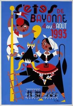 affiche-des-fetes-de-Bayonne-en-1993