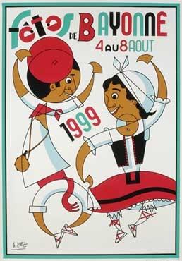 affiche-des-fetes-de-Bayonne-en-1999