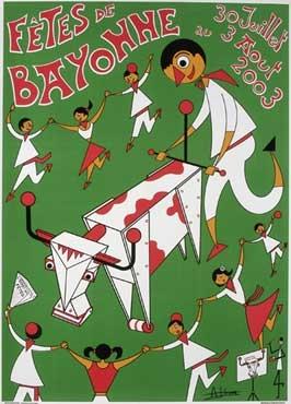 affiche-des-fetes-de-Bayonne-en-2003
