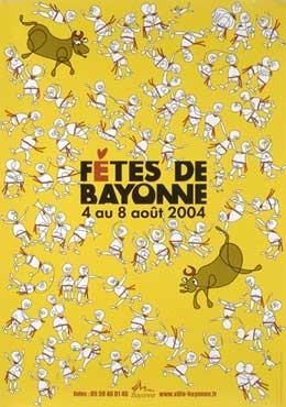 affiche-des-fetes-de-Bayonne-en-2004