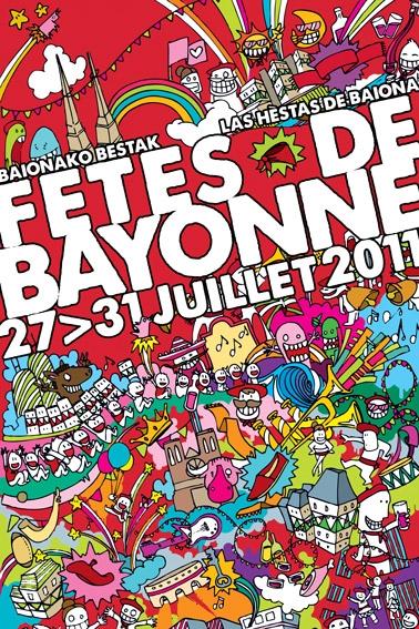 affiche-des-fetes-de-Bayonne-en-2011