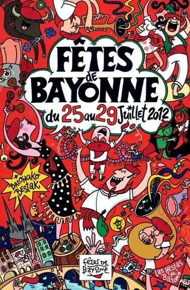 affiche-des-fetes-de-Bayonne-en-2012