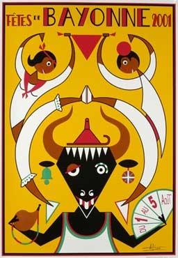 affiche-des-fetes-de-Bayonne-en-2001