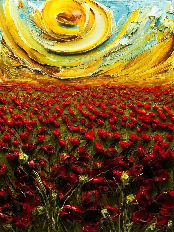 Du relief dans la peinture - Justin Gaffrey