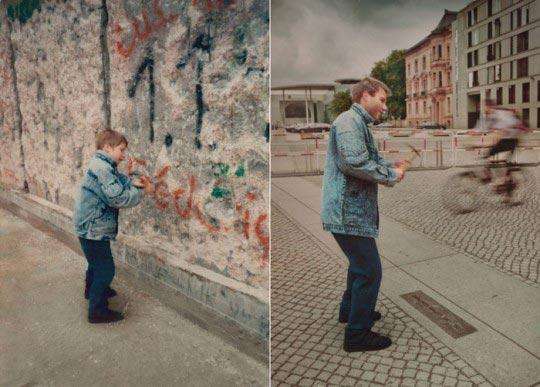 Christoph 1990 & 2011 Berlin Wall,