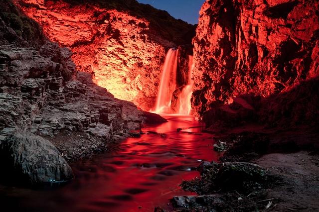 cascades phosphorescentes