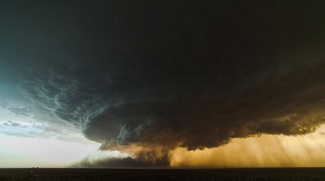 orage supercellulaire au Texas par Mike Olbinski