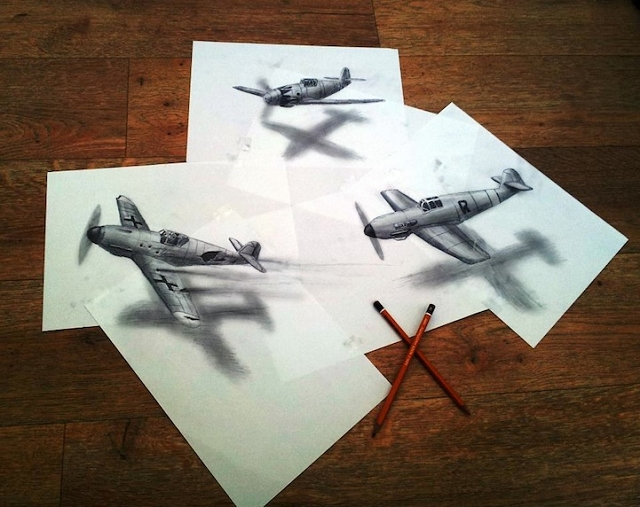 Les dessins anamorphiques de Ramon Bruin