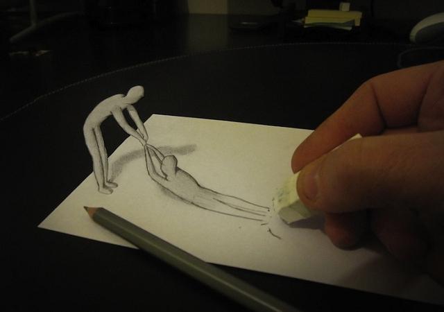 Illustrations anamorphiques par Alessandro Diddi