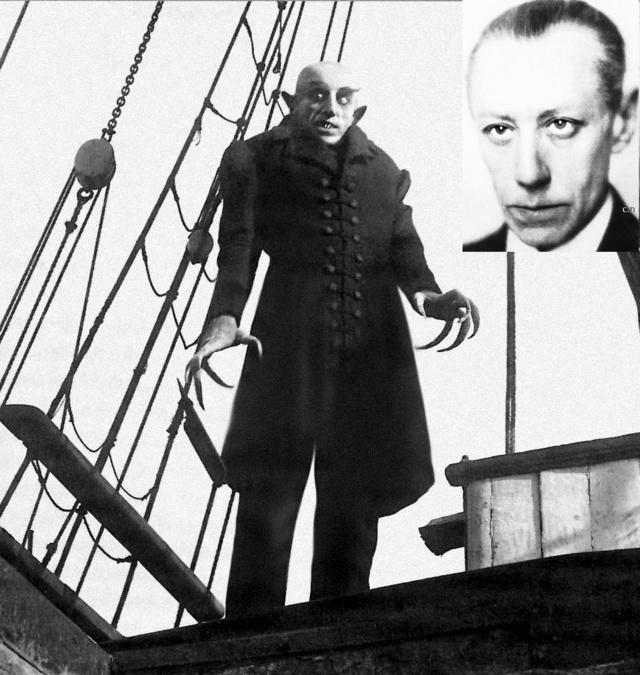Max Schreck, le comte Orlock  dans Nosferatu en 1922
