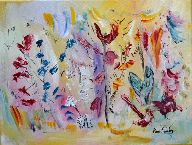 7 L'oiseau et le papillon bleu