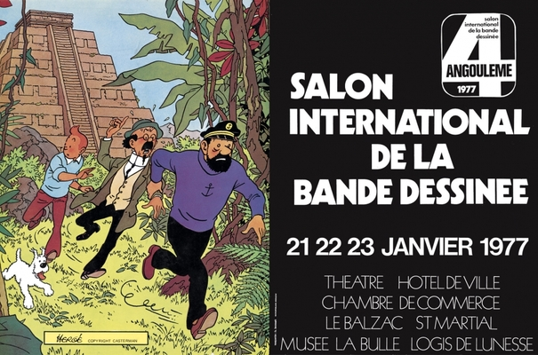 Affiche-Salon-bande-dessinee-angoulemes-1977-Herge-