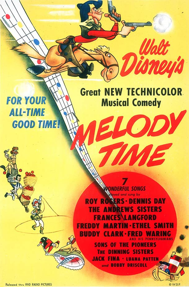 Melody Time affiche 1948