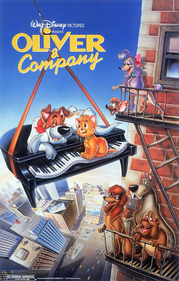affiche Oliver et Compagnie 1986