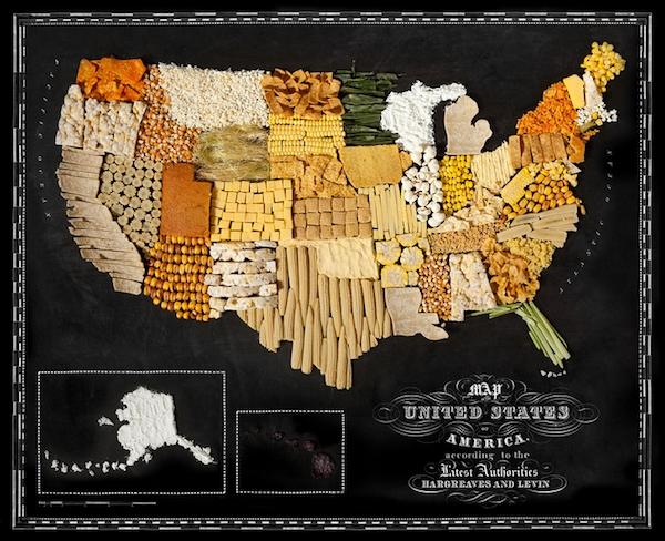 Etats-Unis-Nouriture-carte