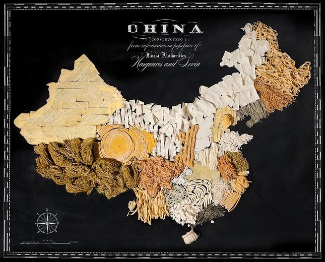 Nouriture-carte-Chine