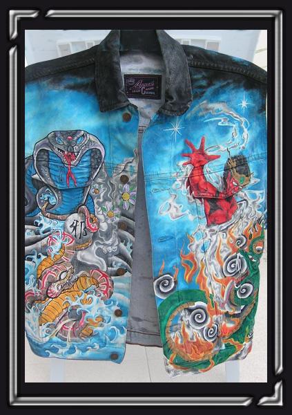 Peintures sur tissu, bois et dessins - Eric Picard-2
