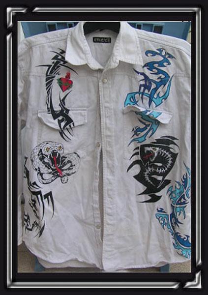 Peintures sur tissu, bois et dessins - Eric Picard-7