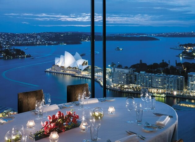 Restaurant-insolite-Altitude at Shangri-La, Sydney, Australie