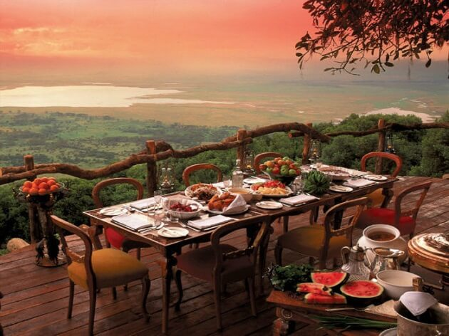 Restaurant-insolite-Crater Lodge, Aire de conservation du Ngorongoro, Tanzanie