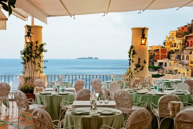 Restaurant-insolite- La Sponda, Positano, Italie