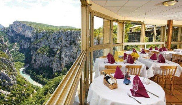 Restaurant-insolite-Le Grand Canyon du Verdon, Aiguines, France