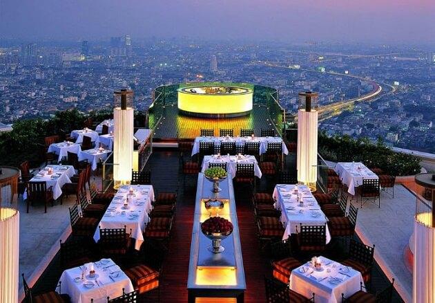 Restaurant-insolite-Sirocco, Bangkok, Thaïlande