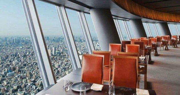 Restaurant-insolite-Sky Restaurant 634, Tokyo, Japon