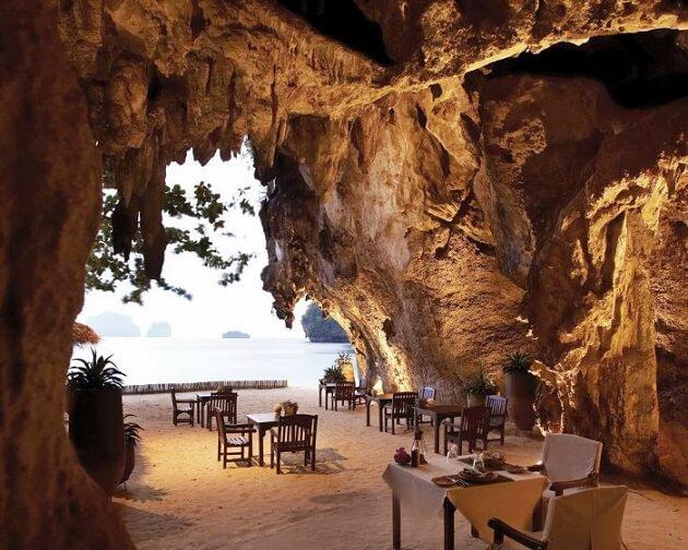 Restaurant-insolite-The Grotto, Krabi, Thaïlande