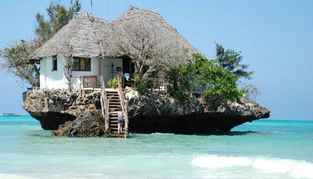Restaurant-insolite-The Rock, Zanzibar, Tanzanie