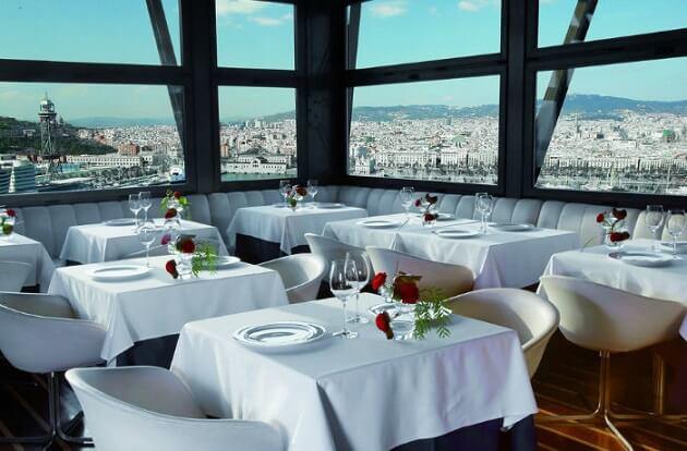 Restaurant-insolite-Torre d'Alta Mar, Barcelone, Espagne