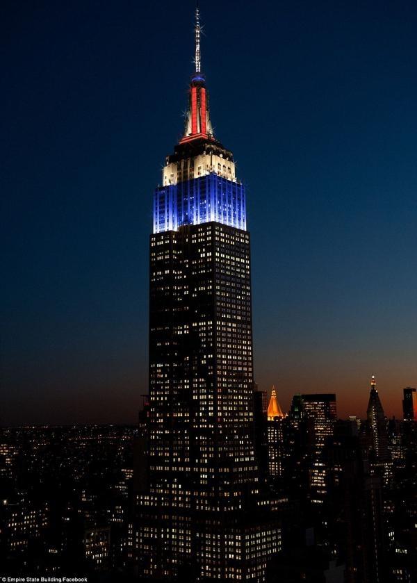 Empire State Building - Hommage attentat 13 novembre 2015 Paris