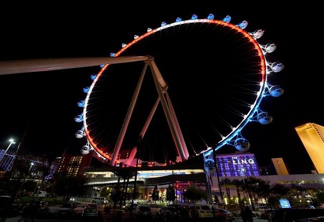 La Grande Roue de Las Vegas - Hommage attentat 13 novembre 2015 Paris