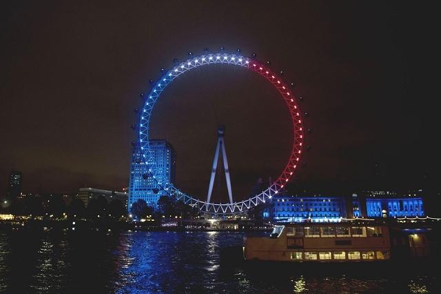 London Eye - Hommage attentat 13 novembre 2015 Paris