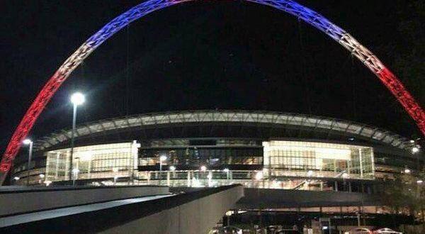 stade Wembley à Londres - Hommage attentat 13 novembre 2015 Paris