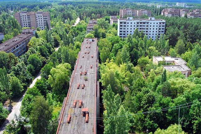 La ville fantôme d'un site nucléaire en Ukraine