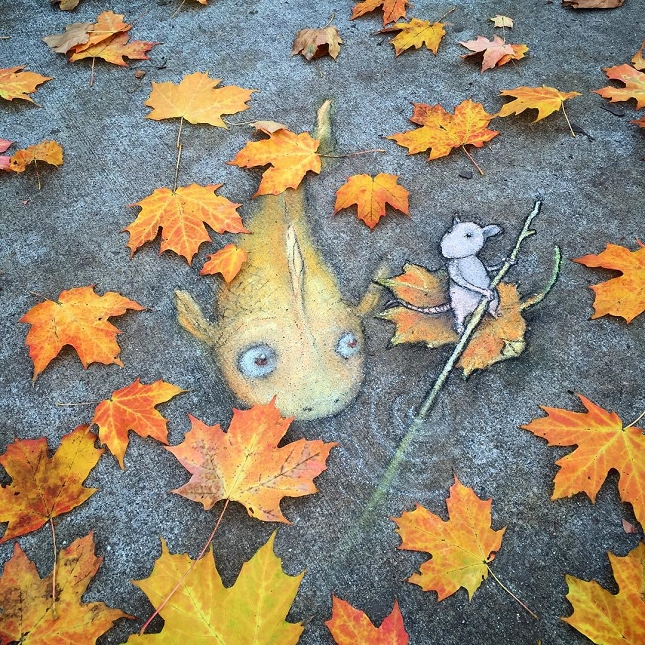 dessins a la craie - street art-1