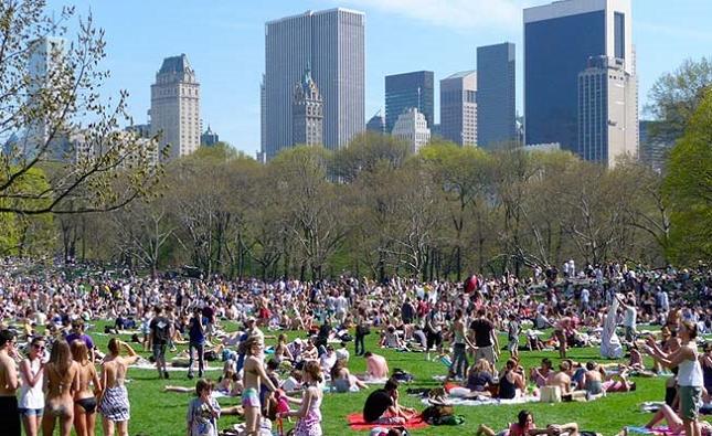 Marcher dans Central Park à New York - realite