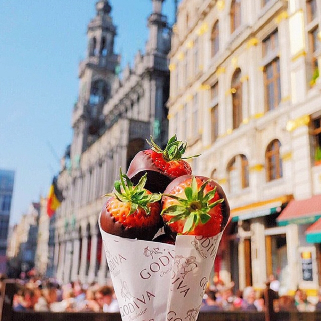 Strawberries dipped in chocolate - Belgique