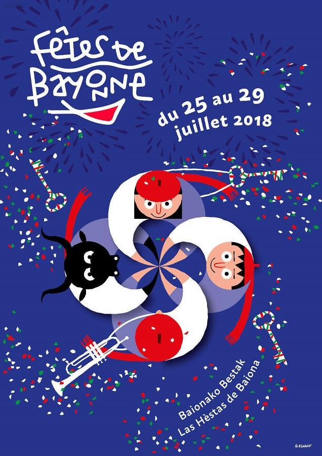 Affiche des fêtes de Bayonne en 2018