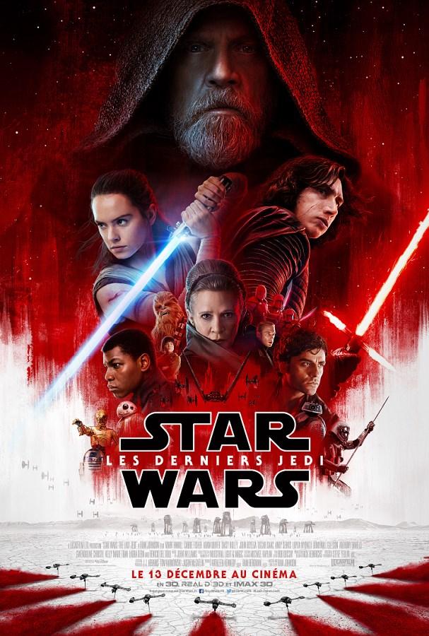Les Derniers Jedi de Rian Johnson, sorti en 2017