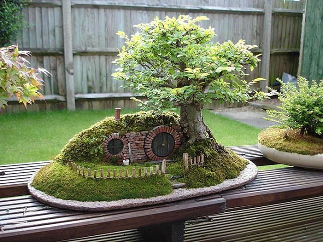 Bonsai avec trou de hobbit